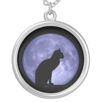 Black Cat Blue Moon necklace