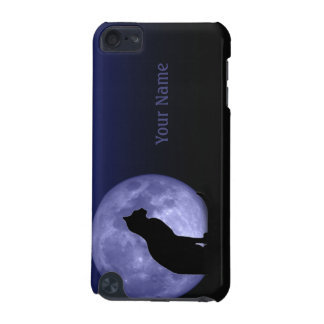 Black Cat, blue moon personalized iPod Touch case