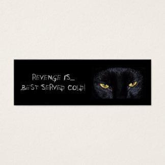 Black Cat Bookmark Mini Business Card