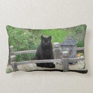 Black Cat Bridge Lumbar Pillow