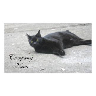 Black  Cat Business Card