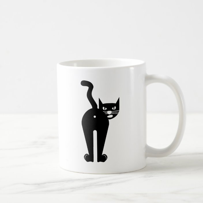 Black Cat Hole Coffee Mug Zazzle