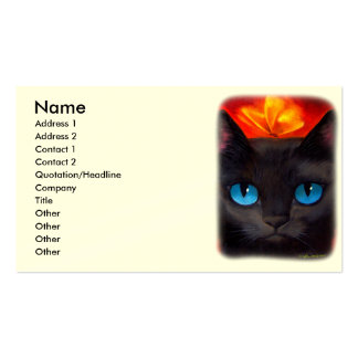Black Cat Butterfly Painting Art - Multi Business Card Templates