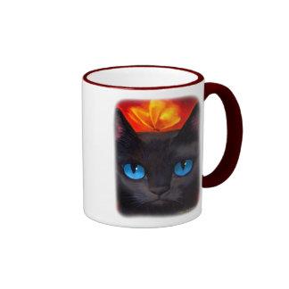 Black Cat Butterfly Painting Art - Multi Mug
