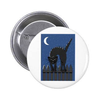 Black Cat Pinback Buttons