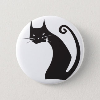 Black Cat Button