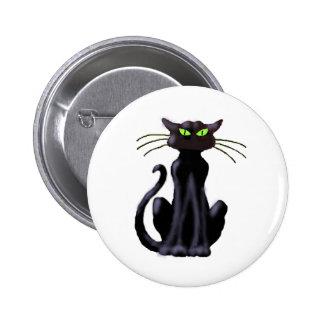 BLACK CAT by SHARON SHARPE Pinback Button