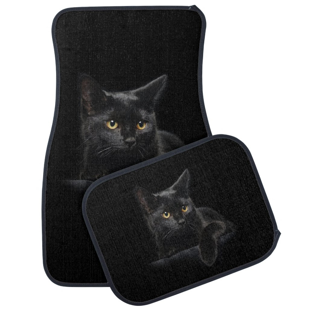 Black Cat Car Mat Full Set
