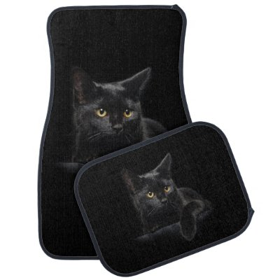 Black Cat Car Mat Full Set