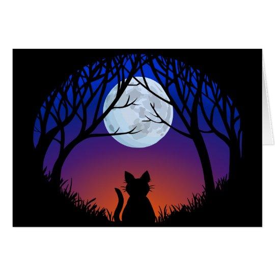 Black Cat Cards Custom Halloween Party Invitations