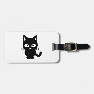 Black cat cartoon bag tag