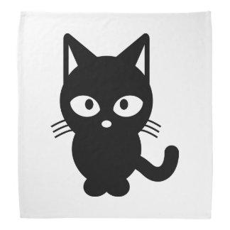 Black cat cartoon bandana