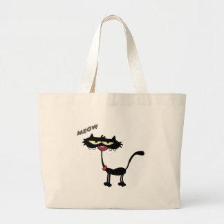 Black Cat Cartoon Charactrer Bag