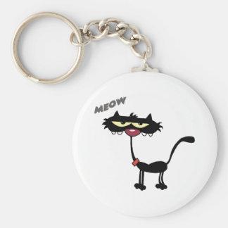 Black Cat Cartoon Charactrer Keychain