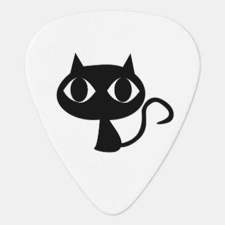 Black cat cartoon guitar pick