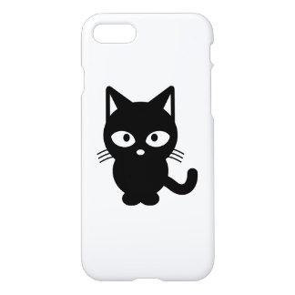 Black cat cartoon iPhone 7 case