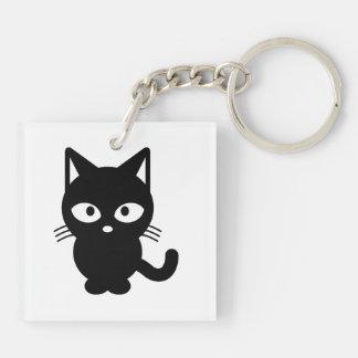 Black cat cartoon keychain