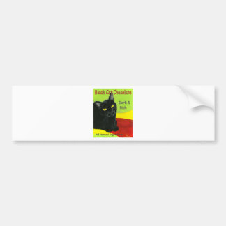 Black Cat Chocolate, Dark and Rich Bumper Sticker