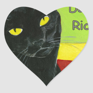 Black Cat Chocolate, Dark and Rich Heart Sticker