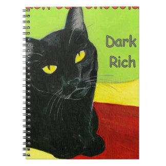 Black Cat Chocolate Dark and Rich Notebooks