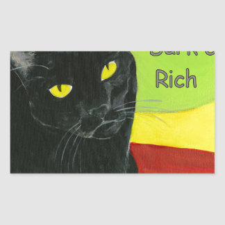 Black Cat Chocolate, Dark and Rich Rectangular Sticker