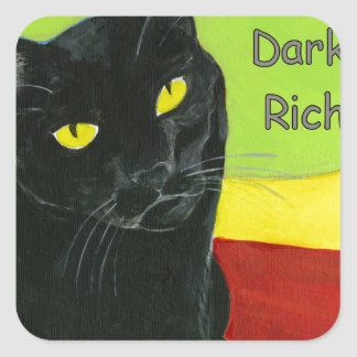 Black Cat Chocolate, Dark and Rich Square Sticker