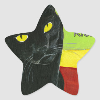 Black Cat Chocolate, Dark and Rich Star Sticker