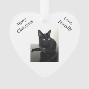 black cat christmas ornament - Black Cat Christmas Ornament