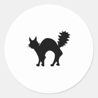 Black Cat Classic Round Sticker
