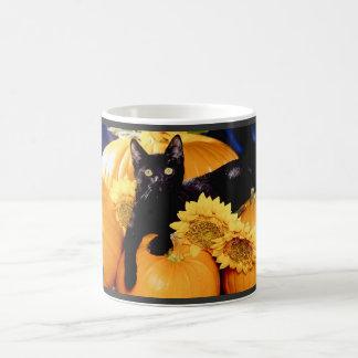 Black Cat Classic White Coffee Mug