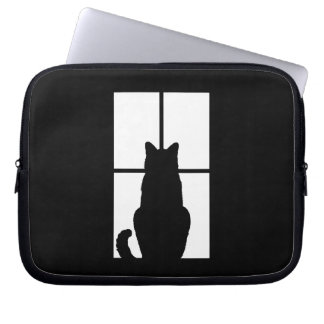 Black Cat Click to Customize Window Color Option Computer Sleeves