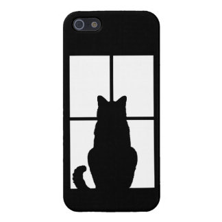 Black Cat Click to Customize Window Color Option Cover For iPhone SE/5/5s