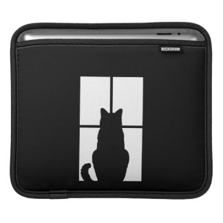 Black Cat Click to Customize Window Color Option iPad Sleeves