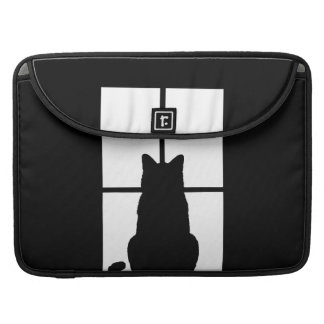Black Cat Click to Customize Window Color Option MacBook Pro Sleeves