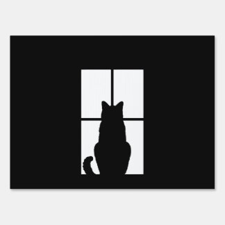 Black Cat Click to Customize Window Color Option Sign