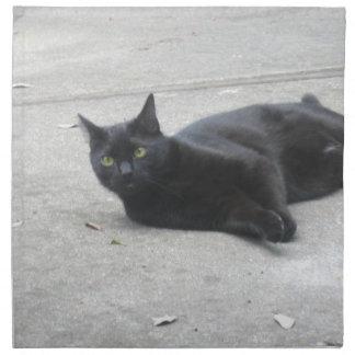 Black  Cat Cloth Napkin