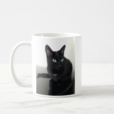 Coffee Themed Black Cat Coffee Cup