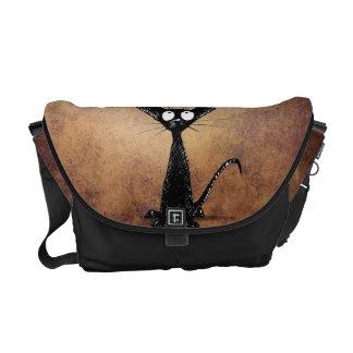 Black Cat Courier Bag