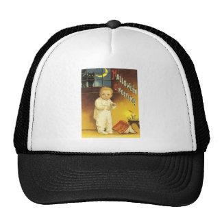 Black Cat Crescent Moon Ghost Story Trucker Hat