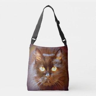 black cat crossbody bag