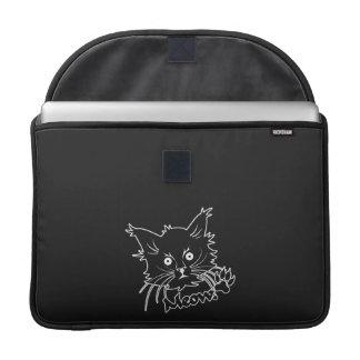 "Black Cat custom 15"" MacBook sleeve Sleeve For MacBooks"