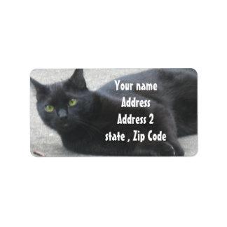 Black  Cat Custom Address Label