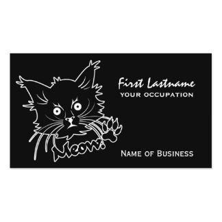 Black Cat custom business cards
