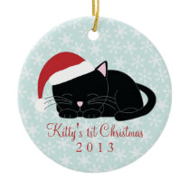 Black Cat Custom Christmas Ornaments