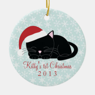 Black Cat Custom Christmas Ornaments