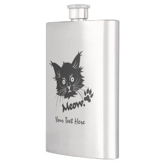 Black Cat custom flask