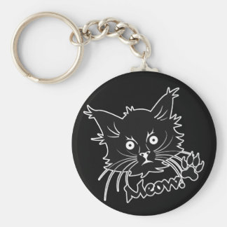 Black Cat custom key chain