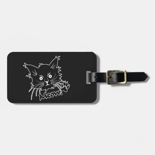 Black Cat custom luggage tag