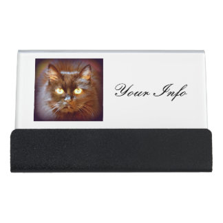 Kitty cat business card holders cases zazzle for Cat business card holder
