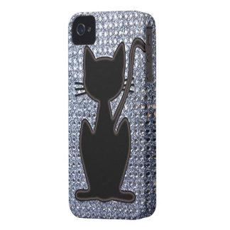 black cat diamond studs iPhone 4 case